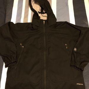 Vintage Black Patagonia Rain Jacket